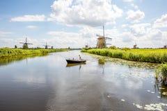 Moinhos de vento velhos em Países Baixos Fotos de Stock Royalty Free