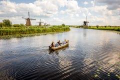 Moinhos de vento velhos em Países Baixos Foto de Stock