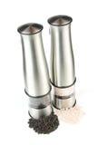 Moinhos elétricos da pimenta e do sal Imagem de Stock