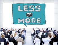 Moins est concept efficace de complexité de simplicité plus minimale illustration libre de droits