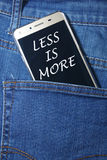 Moins est plus Images libres de droits