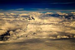 Mointains de l'Himalaya par avion Images libres de droits