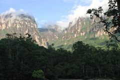 Mointains in the jungle Stock Photo