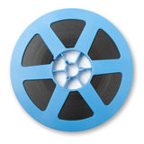 Moion picutre reel. A reel of motion picture film on  white background Stock Photography
