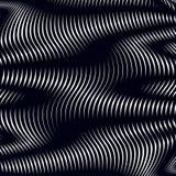 Moire σχέδιο, op υπόβαθρο τέχνης Χαλαρώνοντας υπνωτικό πνεύμα σκηνικού Στοκ εικόνα με δικαίωμα ελεύθερης χρήσης