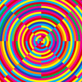 Moire effect. Vector illustration, colorful Royalty Free Stock Photo