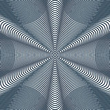 Moire pattern, op art background. Hypnotic backdrop with geometr Royalty Free Stock Photos