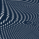 Moire pattern, op art background. Hypnotic vector backdrop with Royalty Free Stock Photography