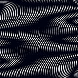 Moire pattern, op art background. Relaxing hypnotic backdrop wit Royalty Free Stock Image