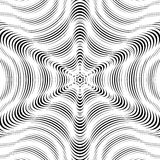 Moire pattern, op art vector background. Hypnotic backdrop with Stock Photos