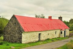 Moirlanich Longhouse, Schotland Royalty-vrije Stock Foto's