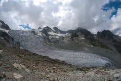 Moiry glaciär Royaltyfri Bild