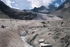 Moiry glaciär Fotografering för Bildbyråer
