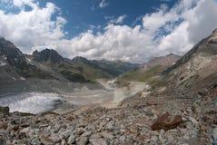 Moiry glaciär Royaltyfri Fotografi