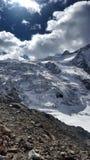 Moiry glaciär de Royaltyfria Bilder