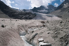 Moiry Glacier. This glacier is a 5 km long glacier situated in the Alps between 2400m and 3800m in the canton of Wallis in Switzerland Stock Image