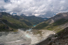 Moiry Glacier. This glacier is a 5 km long glacier situated in the Alps between 2400m and 3800m in the canton of Wallis in Switzerland. In this picture we see Royalty Free Stock Images
