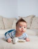 3 mois de bébé garçon Photographie stock libre de droits