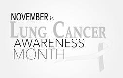 Mois de conscience de cancer de poumon photo stock