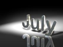 Mois de juillet illustration stock