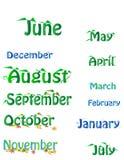 Mois du calendrier illustration de vecteur