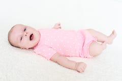 2 mois heureux de sourire de bébé Photo stock