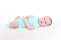 2 mois mignons de bébé Photographie stock libre de droits