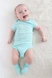 2 mois mignons drôles de bébé Image libre de droits
