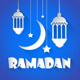 Mois saint de Ramadan Kareem Night Lantern Muslim Religion Photo stock