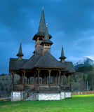 Moisei Monastery in Maramures. Moisei is a village in Maramures County (Romania). The fame of the village is mainly due to the Moisei or Izvorul Negru Monastery Stock Photo