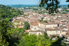 Moissac as seen from Lady of Calvary, France Royalty Free Stock Photos
