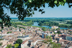 Moissac as seen from Lady of Calvary, France Royalty Free Stock Image