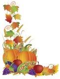 Moisson d'automne d'action de grâces et cadre de vignes Images stock