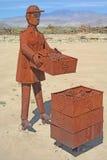 Moisson de raisin - sculptures en métal Images libres de droits
