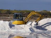 Moisson du sel de Tavira Photo libre de droits