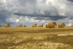 Moisson et tempête Photographie stock libre de droits