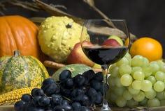 Moisson et vin d'automne Image libre de droits