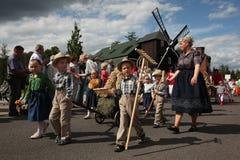 Moissonnez le festival dans la région de Spreewald, Lusatia inférieur, Allemagne photo libre de droits