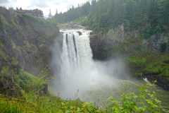 Moisture of falls. Moisture of Snoqualmie falls at State of Washington Stock Photography