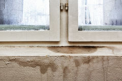 Moisture and mold -Problems in a house Stock Image