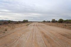 Moisture Namibian gravel road Royalty Free Stock Photo