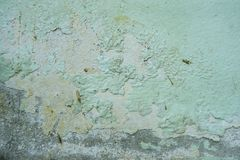 Paint on the wall, peeling color Color texture, deterioration of the paint on the old wall, wall defects stock photo