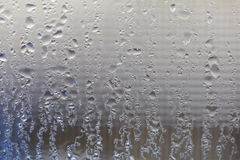 Moisture on Window. Running down the glass Royalty Free Stock Photos