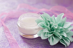 Moisturising creams/lotions for daily spa Stock Image