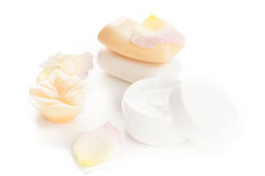 Moisturizer beauty products Royalty Free Stock Images