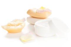 Moisturizer beauty products Stock Photography