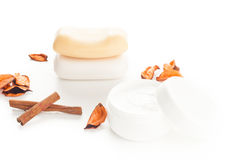 Moisturizer beauty products Stock Images