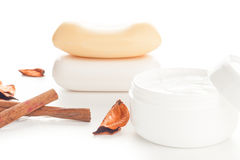 Moisturizer beauty products Royalty Free Stock Photos