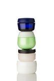 Moisturizer Creams. Different types of moisturizer creams on white background Stock Photos