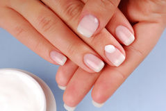 Moisturizer of fingernail Royalty Free Stock Photos